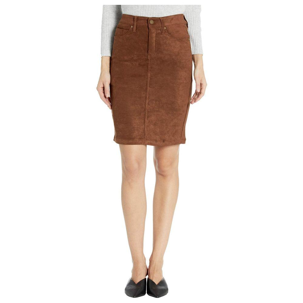 リバプール Liverpool レディース ひざ丈スカート ペンシルスカート スカート【pencil skirt in a stretch faux suede】Chocolate Brown