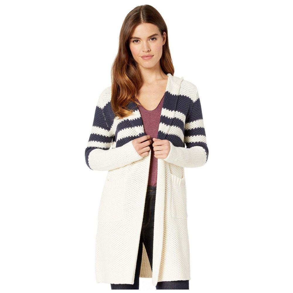 チェイサー Chaser レディース カーディガン トップス【stripe knit open front duster】Cream/Navy Stripe