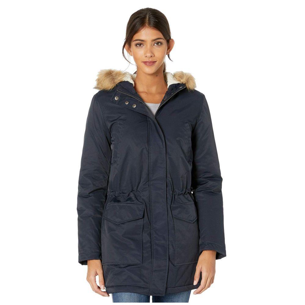 リーバイス Levi's レディース ダウン・中綿ジャケット アウター【coated cotton parka with sherpa and faux fur hood】Navy