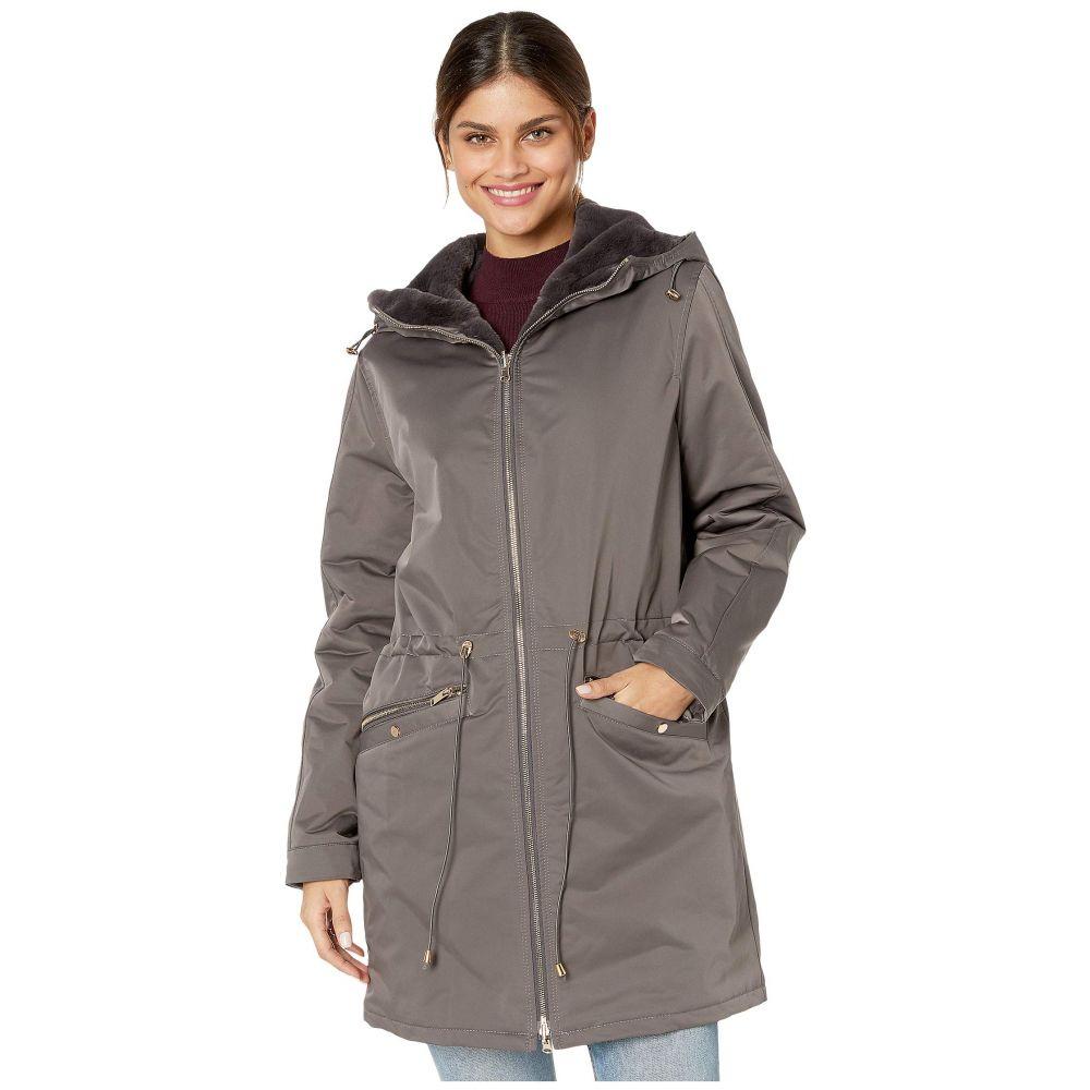 ラブトークン Love Token レディース コート フード アウター【tayna faux fur reversible hooded jacket】Grey