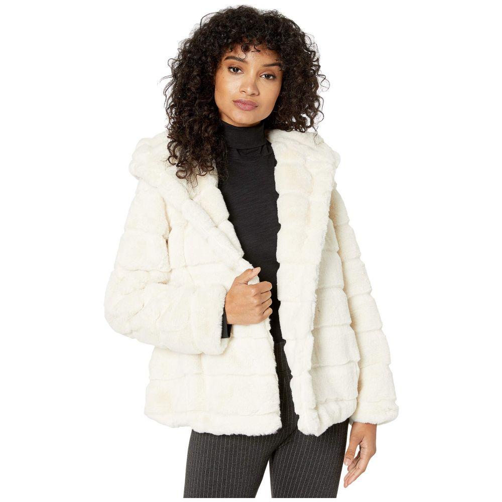 アパリス APPARIS レディース ダウン・中綿ジャケット ファーコート フード アウター【goldie 3 hooded faux fur coat】Ivory