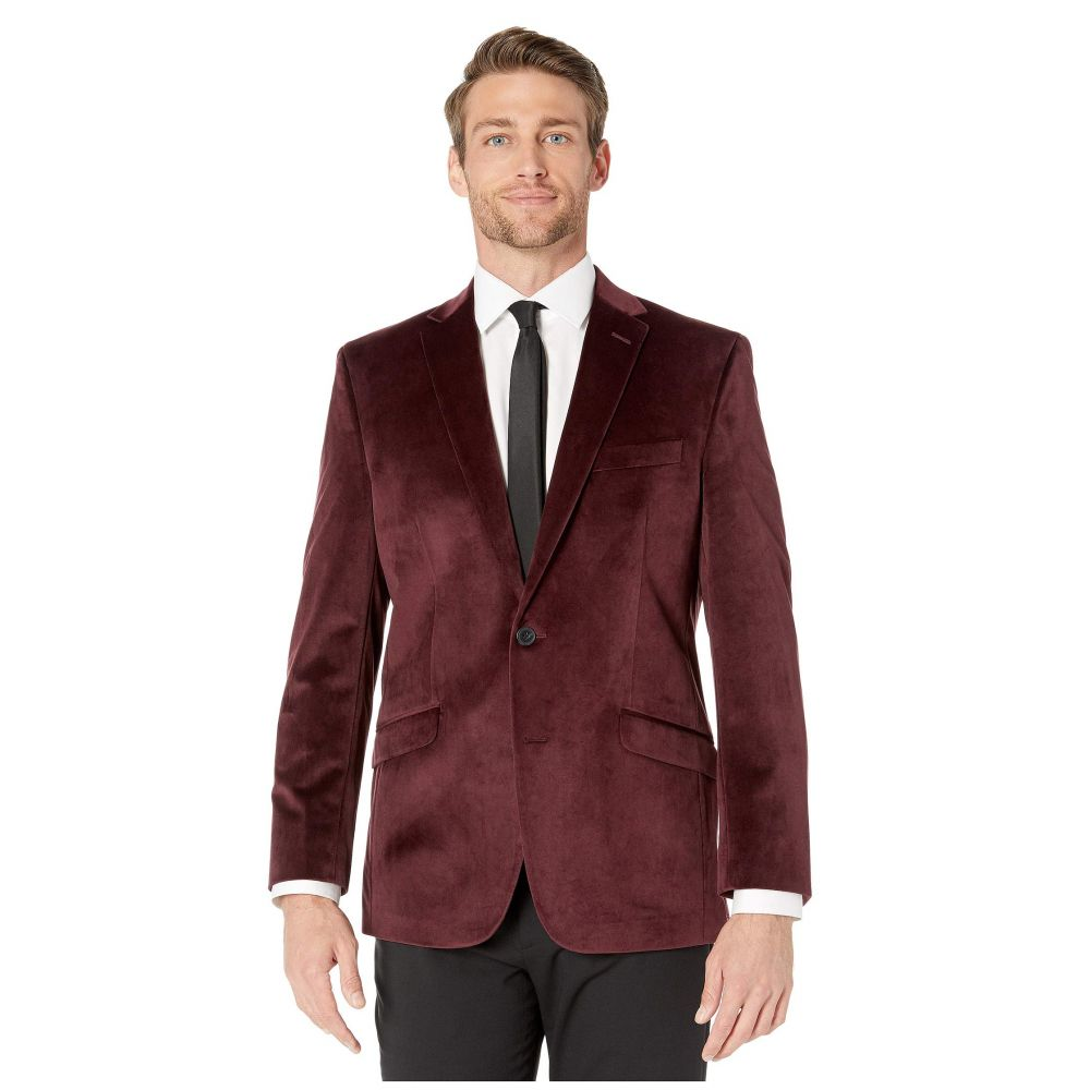 ケネス コール Kenneth Cole Reaction メンズ スーツ・ジャケット アウター【velvet sports coat】Burgundy