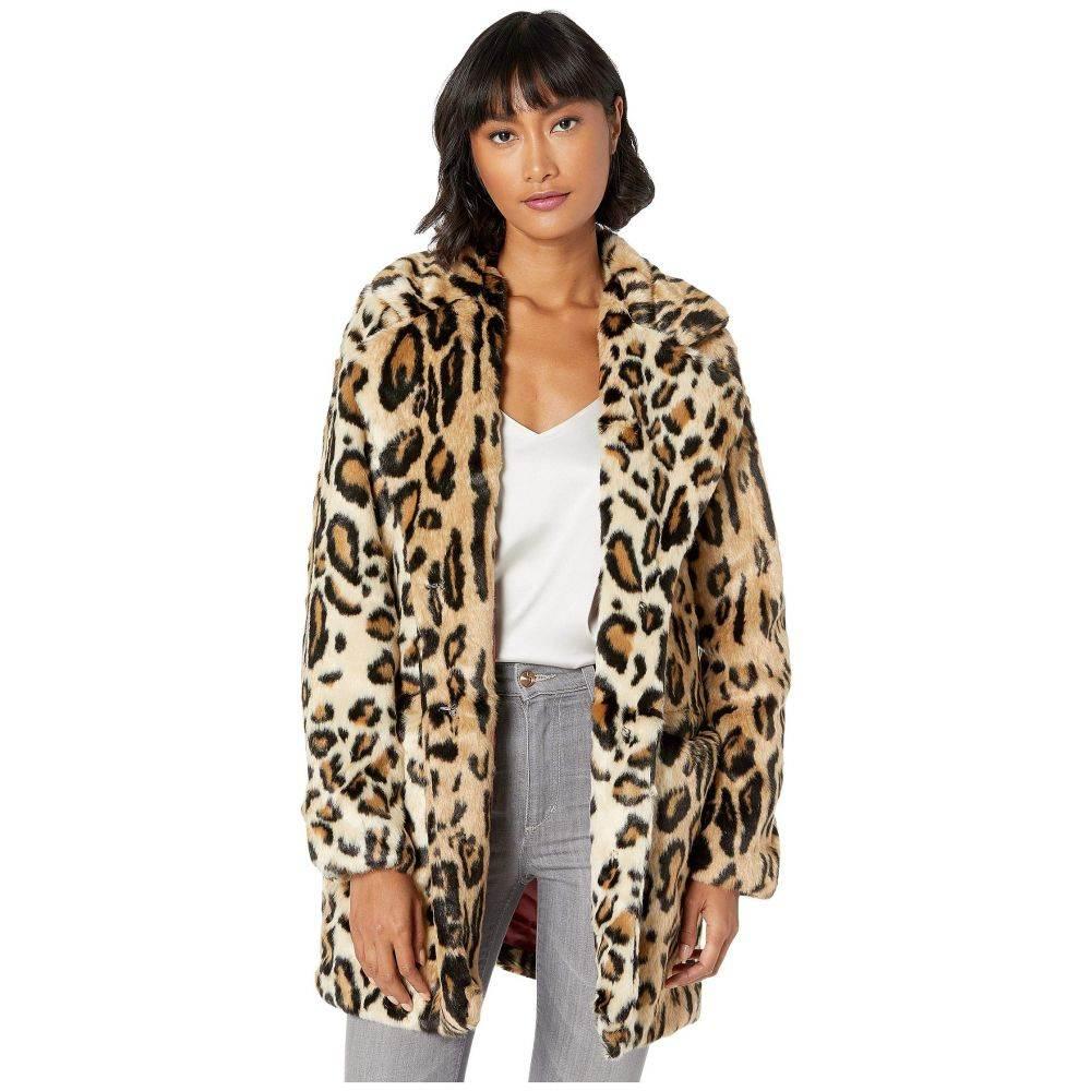 アパリス APPARIS レディース ダウン・中綿ジャケット ファーコート アウター【margot leopard faux fur coat】Leopard