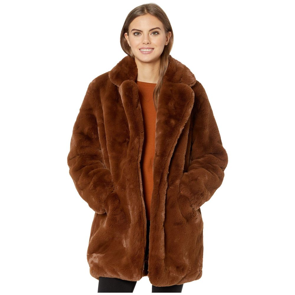アパリス APPARIS レディース ダウン・中綿ジャケット ファーコート アウター【sophie 2 faux fur coat】Chocolate