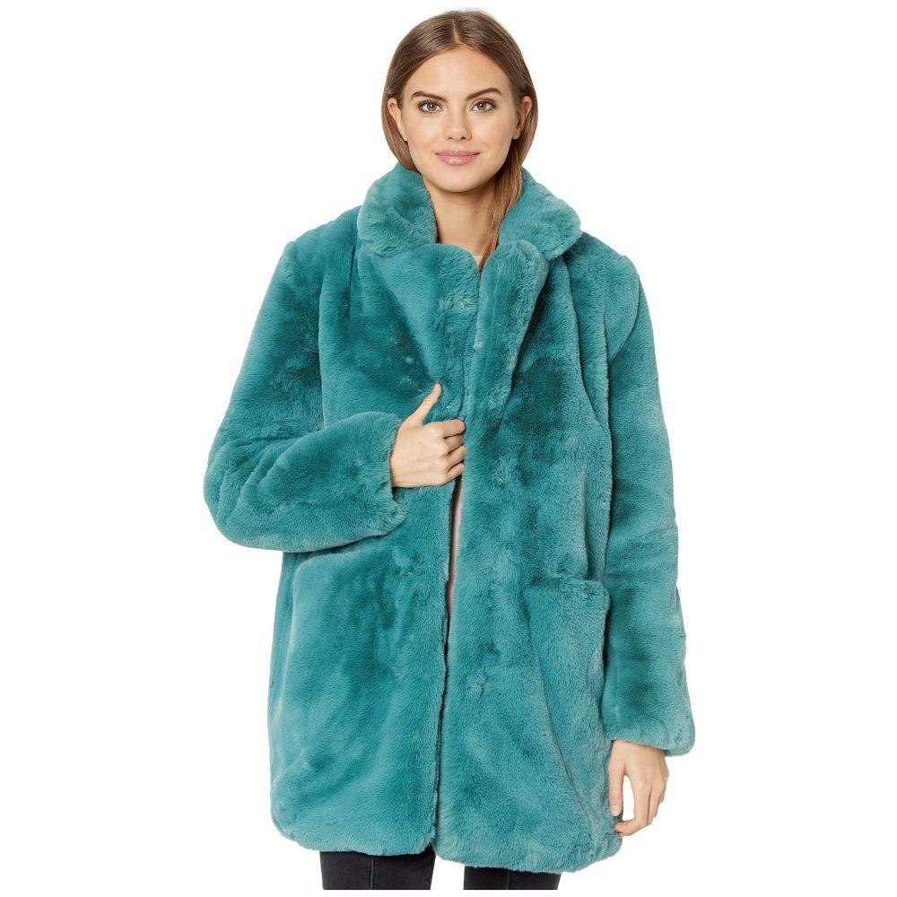 アパリス APPARIS レディース ダウン・中綿ジャケット ファーコート アウター【sophie 2 faux fur coat】Sapphire Blue