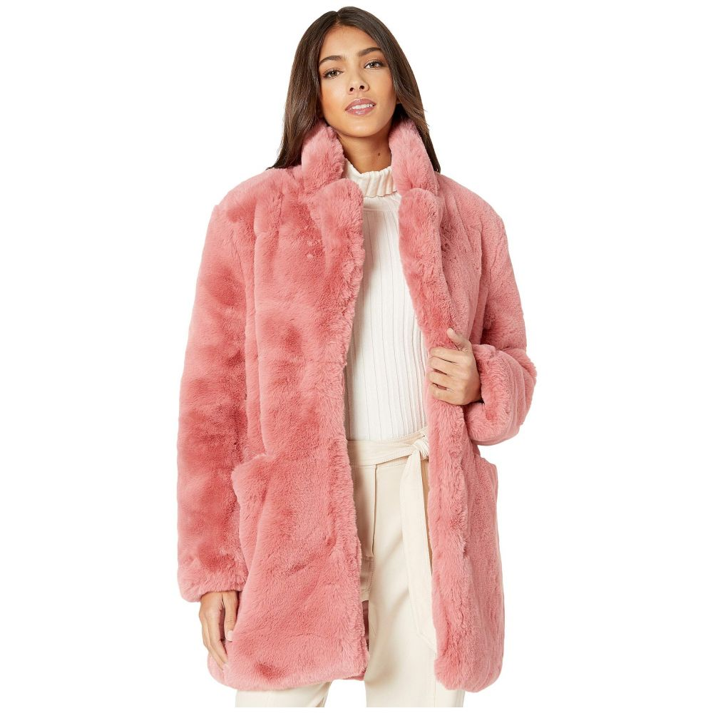 アパリス APPARIS レディース ダウン・中綿ジャケット ファーコート アウター【sophie 2 faux fur coat】Rose