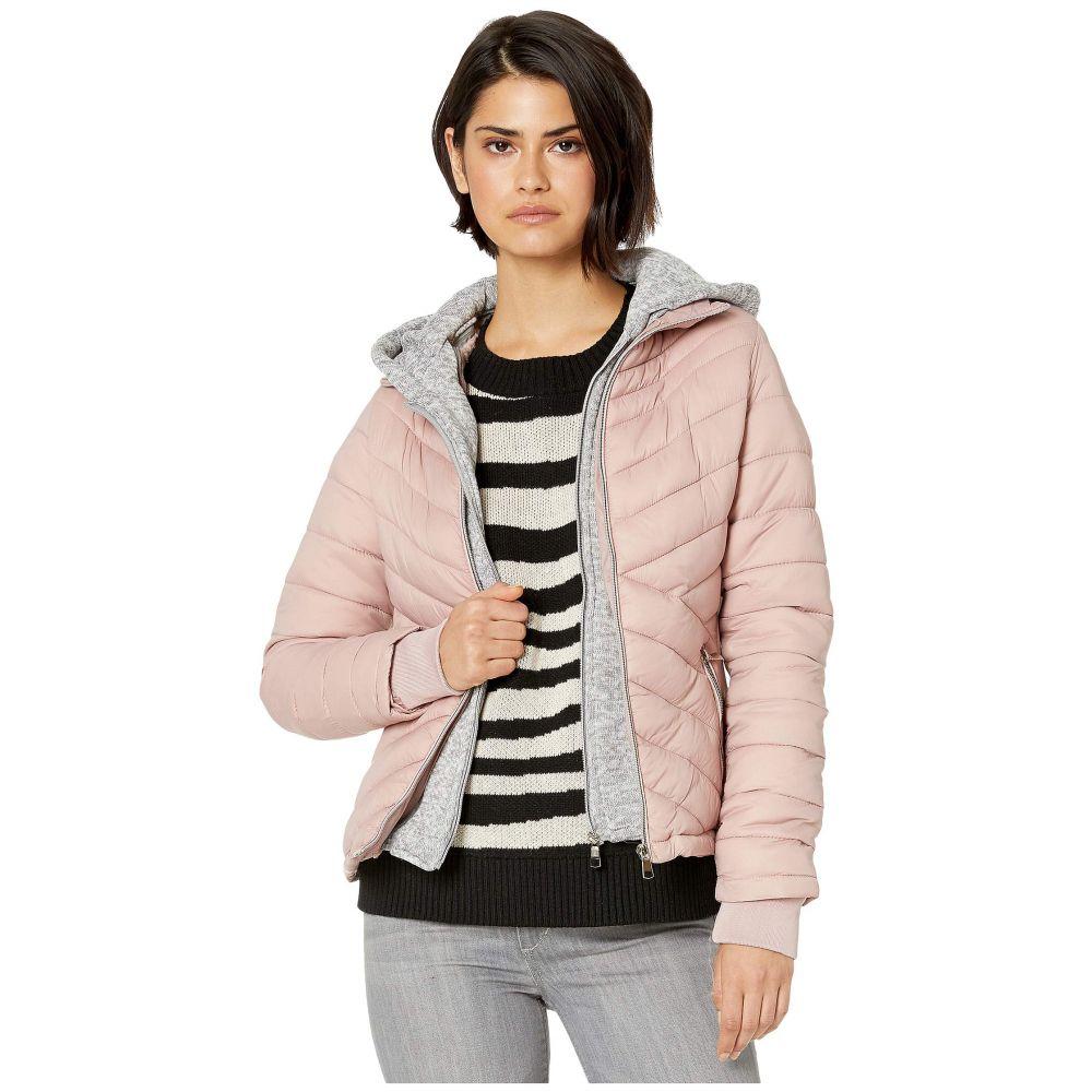YMI スノビッシュ YMI Snobbish レディース ダウン・中綿ジャケット フード アウター【puffer jacket with marled sweatshirt hood】Mauve