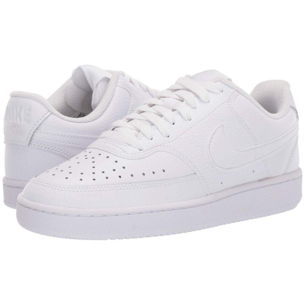 ナイキ Nike レディース スニーカー シューズ・靴【court vision low】White/White/White