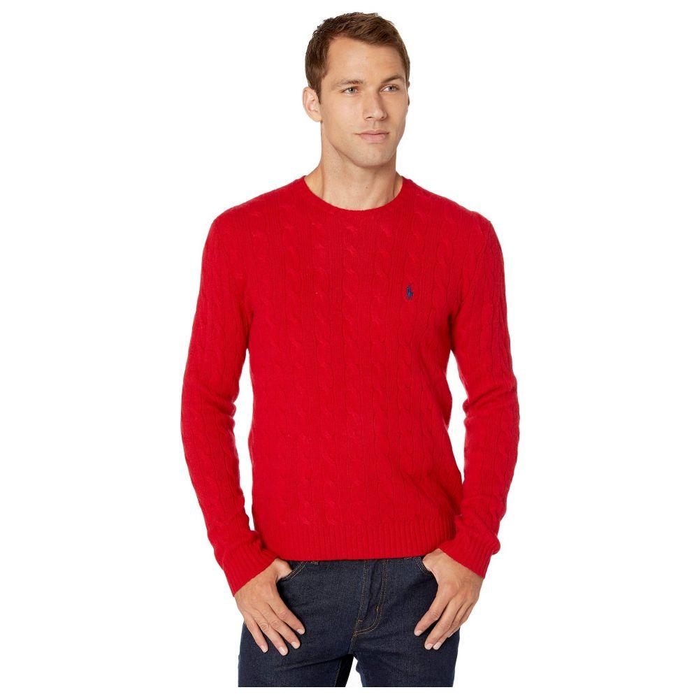 ラルフ ローレン Polo Ralph Lauren メンズ ニット・セーター トップス【wool cashmere long sleeve cable knit sweater】Park Avenue Red