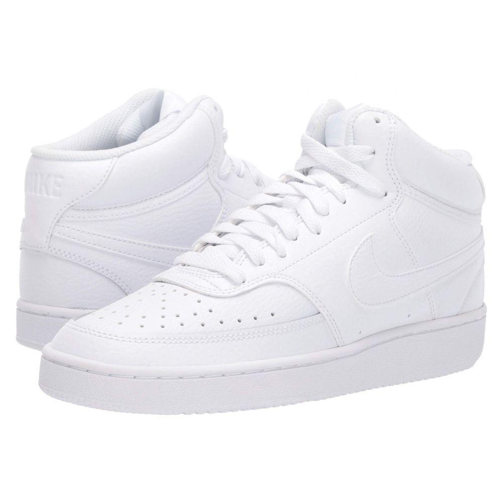 ナイキ Nike レディース スニーカー シューズ・靴【court vision mid】White/White/White