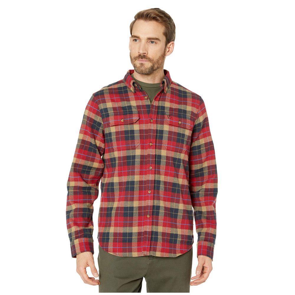 フェールラーベン Fjallraven メンズ シャツ フランネルシャツ トップス【Sarek Heavy Flannel Shirt】Deep Red