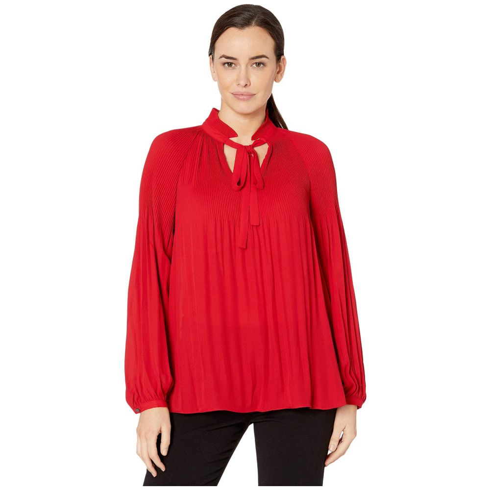 ラルフ ローレン LAUREN Ralph Lauren レディース トップス 【Georgette Tie-Neck Top】Lipstick Red