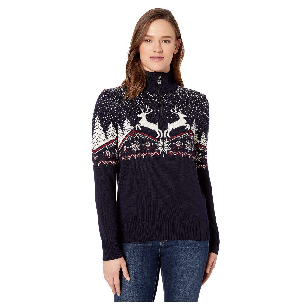 ダーレ オブ ノルウェイ Dale of Norway レディース ニット・セーター トップス【Christmas Feminine Sweater】Navy/Off-White/Red Rose