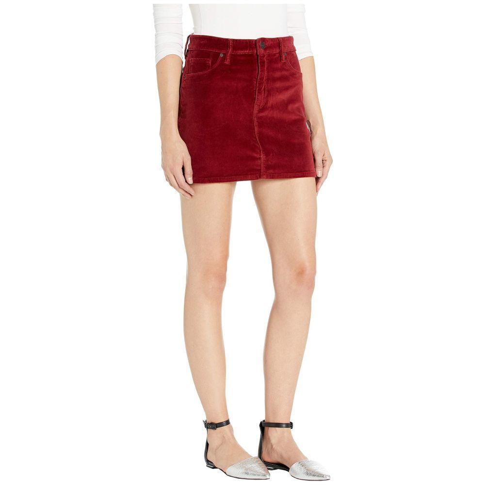 ハドソンジーンズ Hudson Jeans レディース ミニスカート スカート【Viper Velvet Mini Skirt in Oxblood】Oxblood