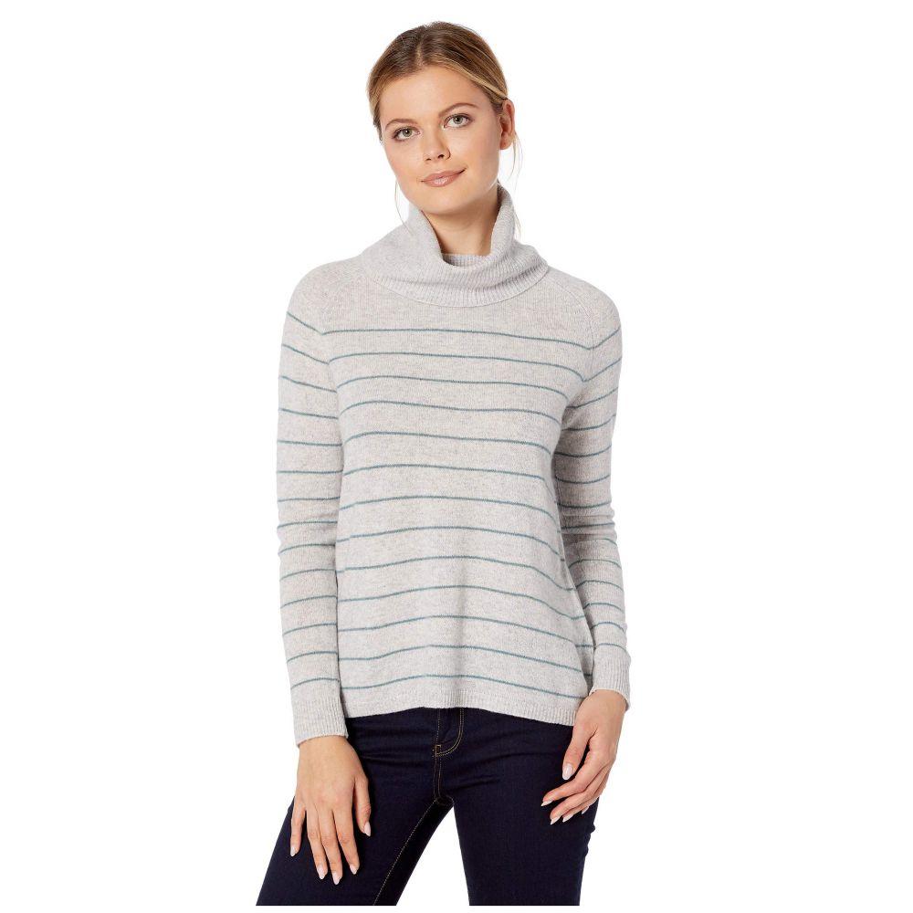 リラピー Lilla P レディース ニット・セーター トップス【100% Cashmere Easy Turtleneck Sweater】Platinum Stripe