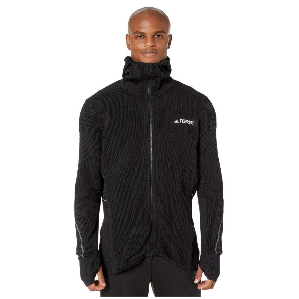 アディダス adidas Outdoor メンズ ジャケット ミッドレイヤー アウター【Primeknit Midlayer】Black