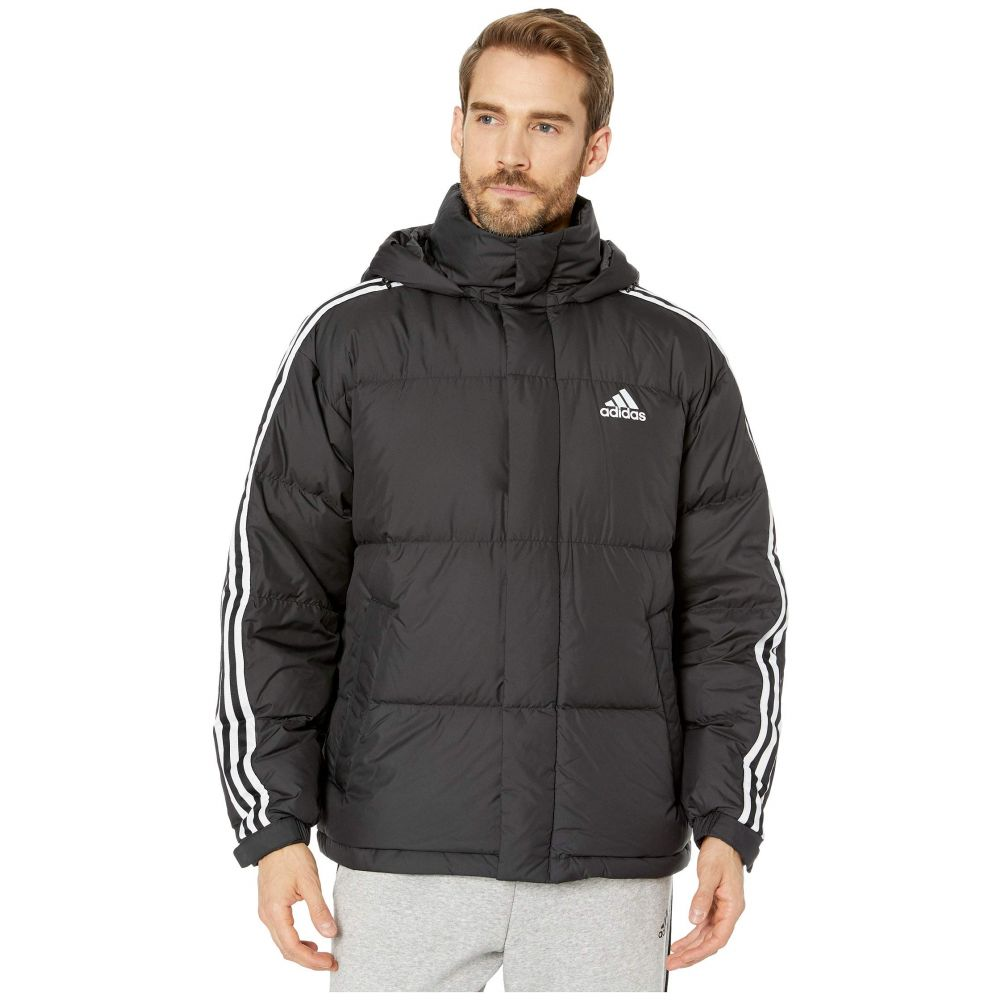 アディダス adidas Outdoor メンズ ダウン・中綿ジャケット アウター【3-Stripe Puff Down】Black