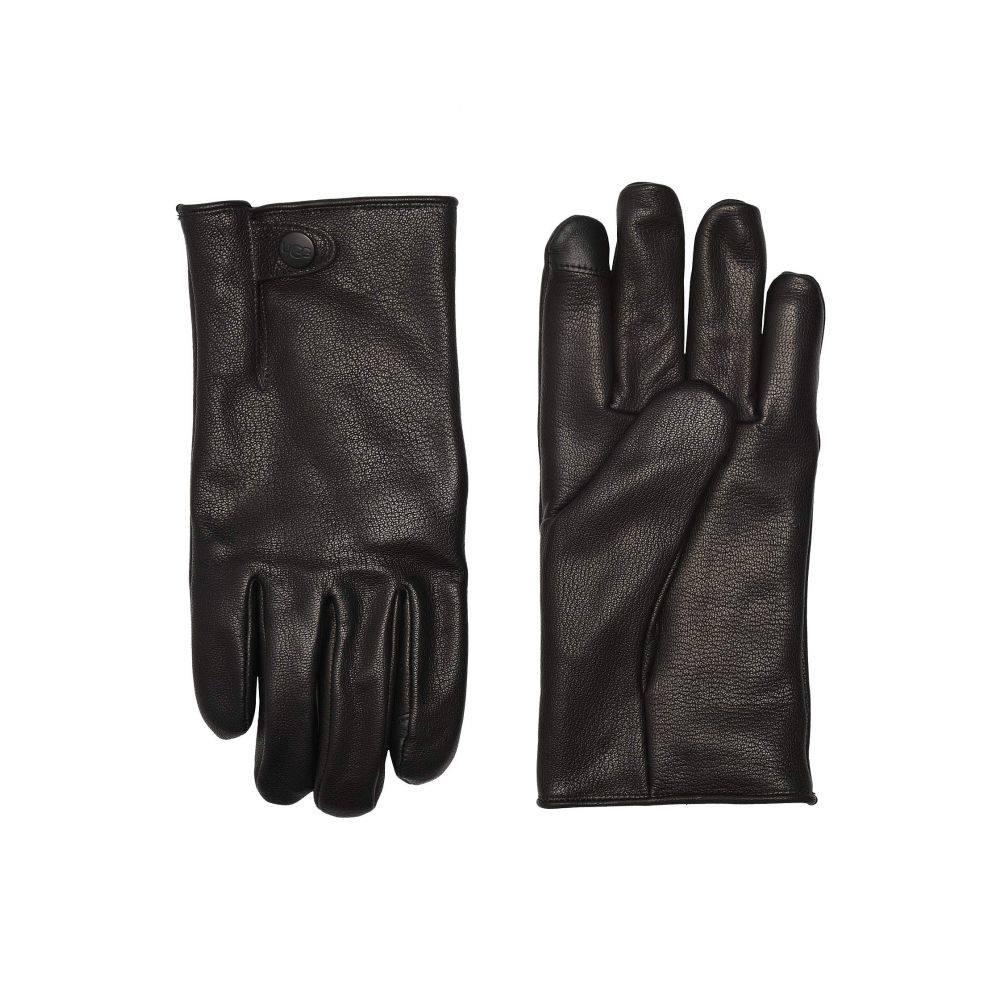 アグ UGG メンズ 手袋・グローブ 【Tabbed Splice Vent Leather Tech Gloves with Sherpa Lining】Black