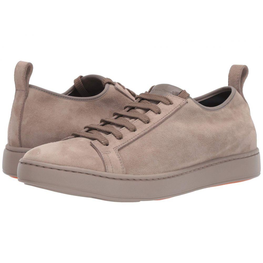 サントーニ Santoni メンズ スニーカー レースアップ シューズ・靴【Cleanic Stretch Suede Lace-Up Sneaker】Beige