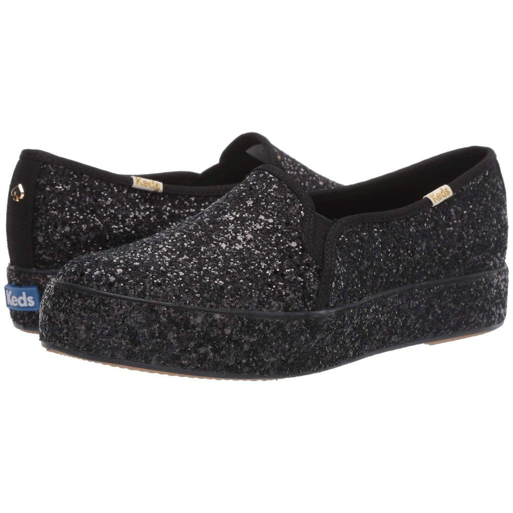 ケイト スペード Keds x kate spade new york レディース スニーカー シューズ・靴【Triple Decker All Over】Black Glitter