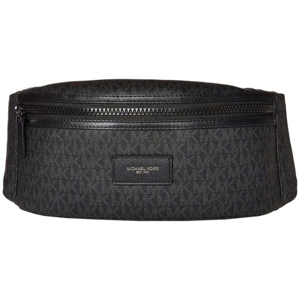 マイケル コース Michael Kors メンズ ボディバッグ・ウエストポーチ バッグ【Greyson Hip Bag】Black MK Signature