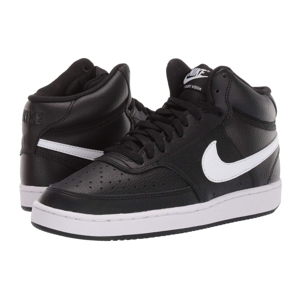 ナイキ Nike レディース スニーカー シューズ・靴【Court Vision Mid】Black/White