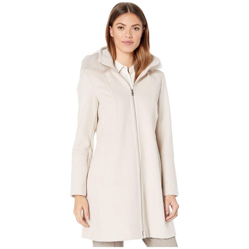 ロンドンフォグ London Fog レディース ジャケット アウター【Zip Front Wool with Hood】Buff