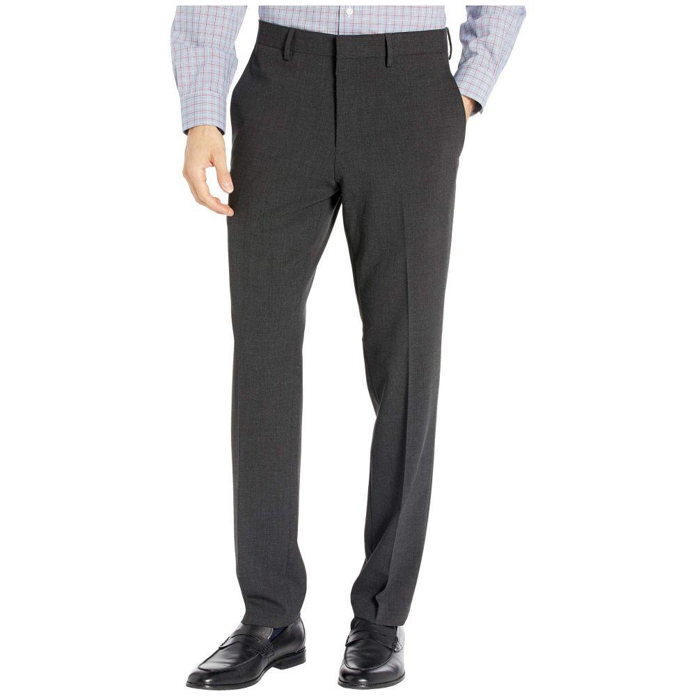 ケネス コール Kenneth Cole Reaction メンズ スキニー・スリム ボトムス・パンツ【Stretch Flannel Slim Fit Flat Front Dress Pants】Charcoal Heather