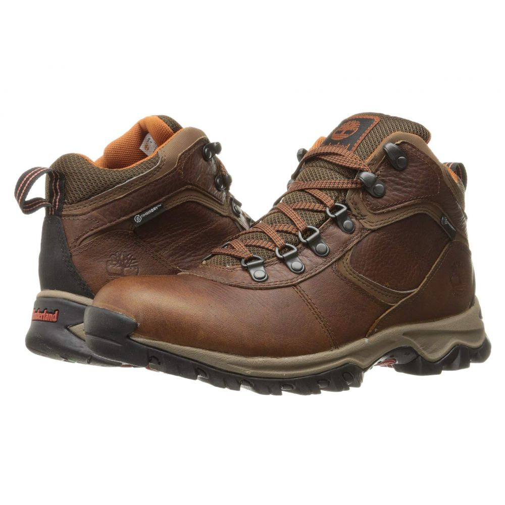 ティンバーランド Timberland メンズ ハイキング・登山 シューズ・靴【Earthkeepers Mt. Maddsen Mid Waterproof】Medium Brown Full-Grain
