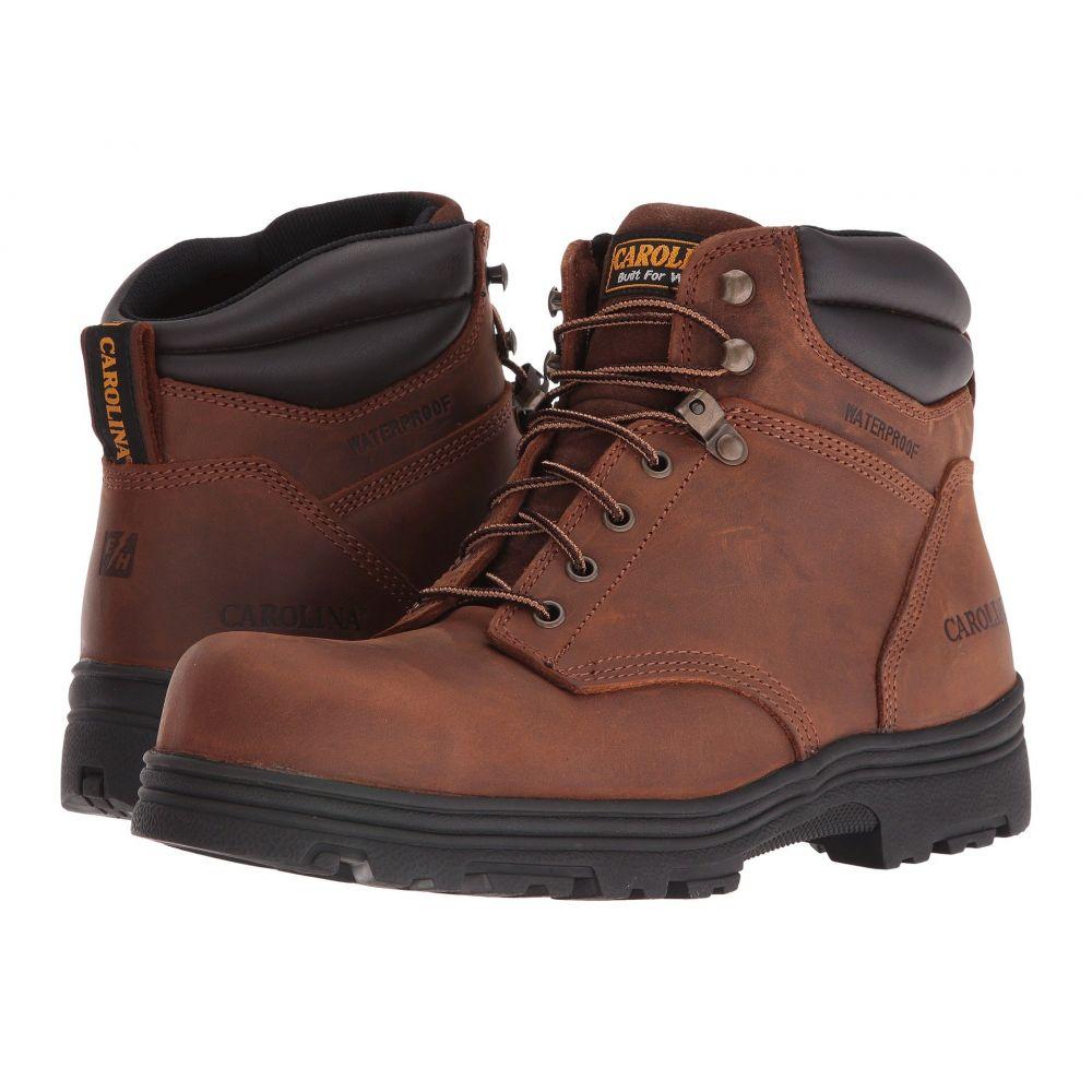 カロリナ Carolina メンズ ブーツ シューズ・靴【Foreman Waterproof Steel Toe CA3526】Copper Crazy Horse
