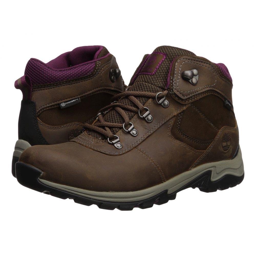 ティンバーランド Timberland レディース ハイキング・登山 シューズ・靴【Mt. Maddsen Mid Leather Waterproof】Medium Brown Full Grain
