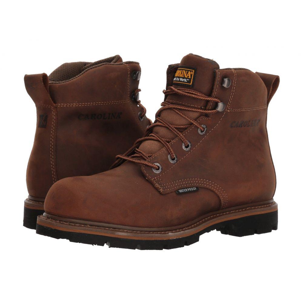 カロリナ Carolina メンズ ブーツ ワークブーツ シューズ・靴【6' Waterproof Work Boot CA9036】Mohawk RW/Brown Leather Upper
