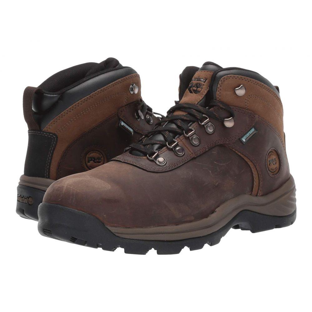 ティンバーランド Timberland PRO メンズ ブーツ シューズ・靴【Flume Mid Work Steel Safety Toe Waterproof】Brown Nubuck Leather