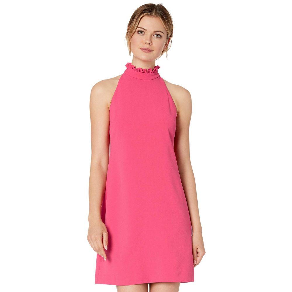 ヴィンス カムート Vince Camuto レディース ワンピース シフトドレス ワンピース・ドレス【Kors Crepe Shift Dress with High Ruffle Neck】Hot Pink