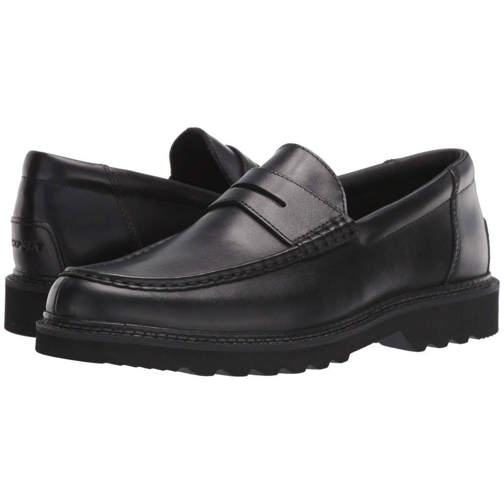 ロックポート Rockport メンズ ローファー シューズ・靴【Peirson Penny Keeper】Black Brush Off Leather