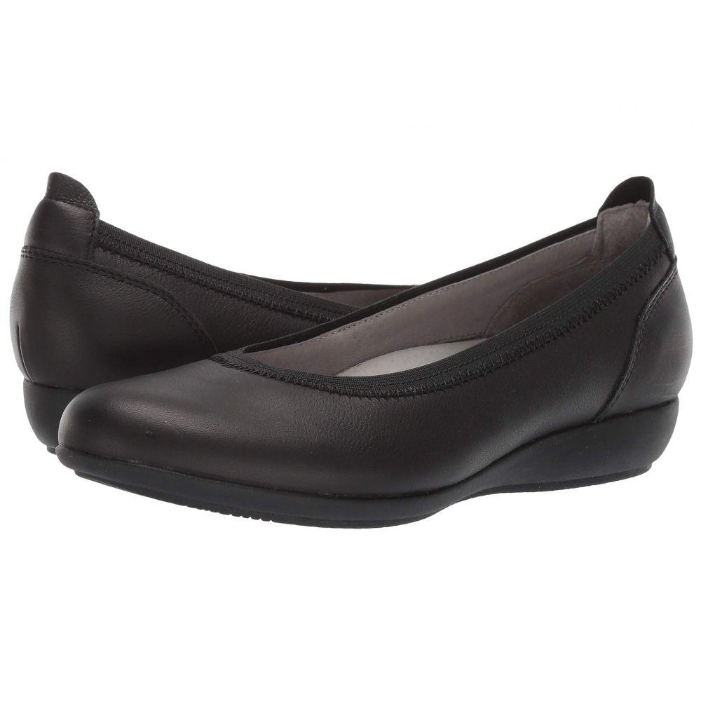 ダンスコ Dansko レディース スリッポン・フラット シューズ・靴【Kristen】Black Milled Full Grain