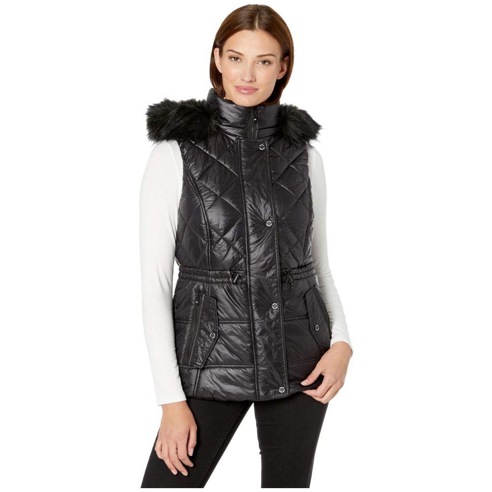 マイケル コース MICHAEL Michael Kors レディース ベスト・ジレ トップス【Active Vest with Faux Fur Trim Hood A421030TZ】Black