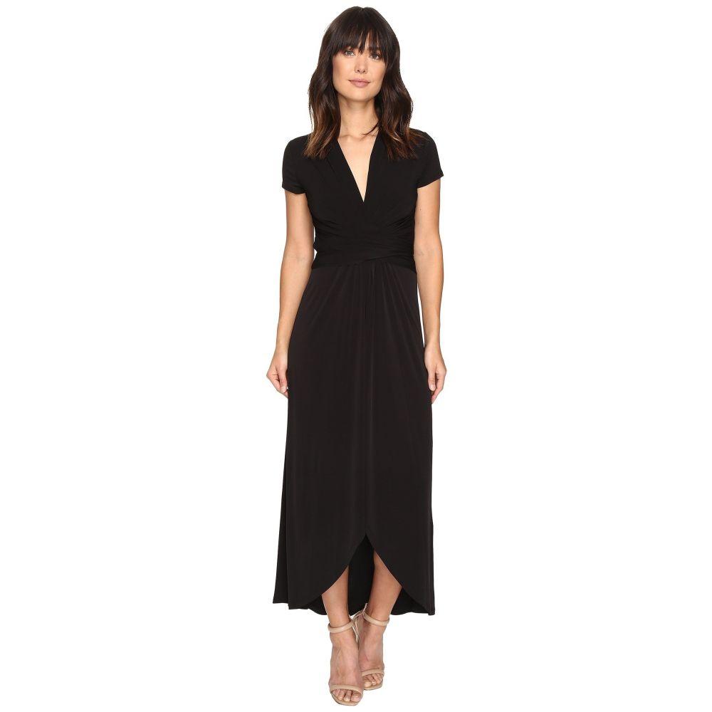 マイケル コース MICHAEL Michael Kors レディース ワンピース ラップドレス ワンピース・ドレス【Short Sleeve Maxi Wrap Dress】Black
