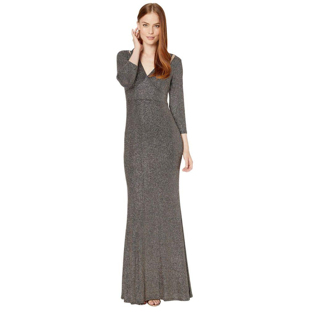 カルバンクライン Calvin Klein レディース パーティードレス ワンピース・ドレス【Sequin Gown with Shoulder Cutout】Black Multi