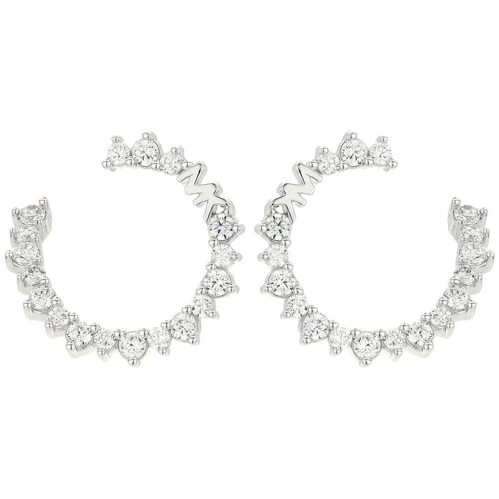マイケル コース Michael Kors レディース イヤリング・ピアス ジュエリー・アクセサリー【Pave Wrap Hoop Earrings】Silver