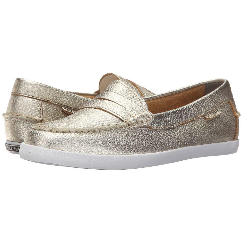 コールハーン Cole Haan レディース ローファー・オックスフォード シューズ・靴【Pinch Weekender】Soft Gold Metallic Leather