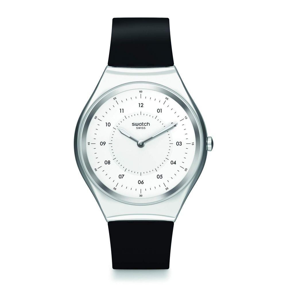 スウォッチ Swatch レディース 腕時計 【Skinnoiriron - SYXS100】White