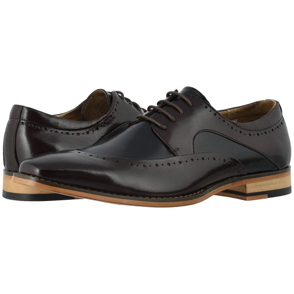ステイシー アダムス Stacy Adams メンズ 革靴・ビジネスシューズ モックトゥ シューズ・靴【Tammany Folded Moc Toe Oxford】Burgundy/Black