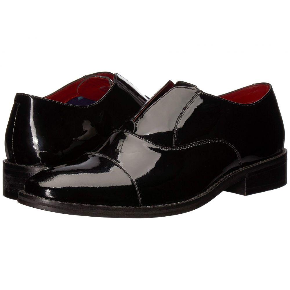 カルロスサンタナ CARLOS by Carlos Santana メンズ スリッポン・フラット シューズ・靴【Graham Slip-On Oxford】Black Patent Leather