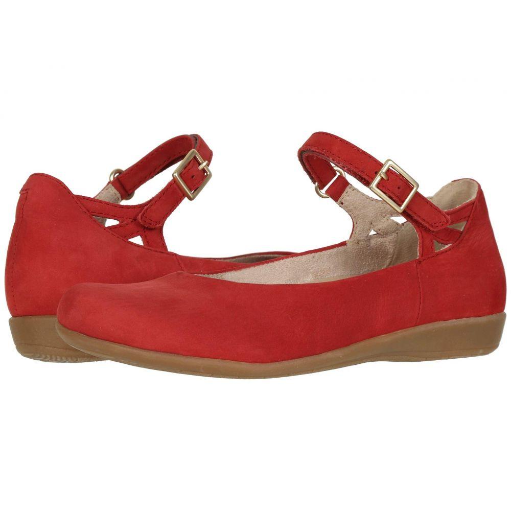 カルソーアースシューズ Earth レディース スリッポン・フラット シューズ・靴【Alma】Bright Red Soft Buck