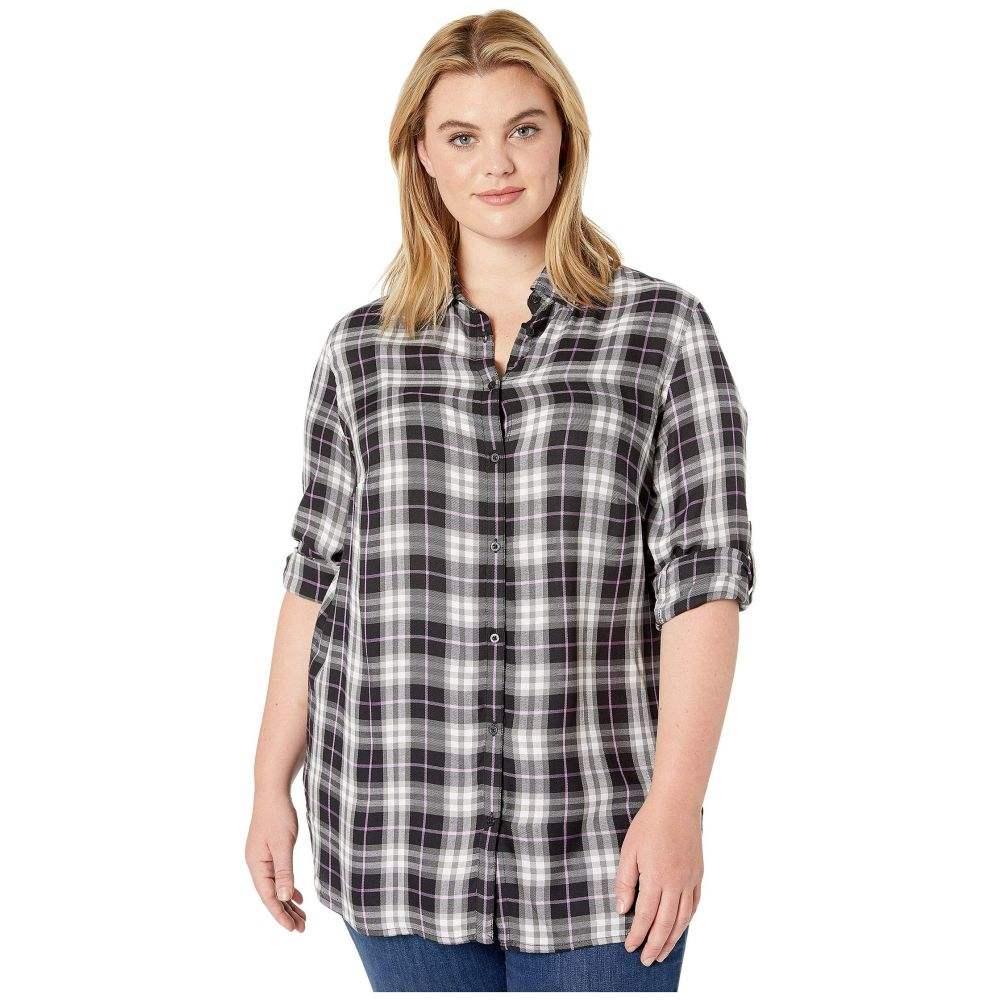 ラルフ ローレン LAUREN Ralph Lauren レディース ブラウス・シャツ 大きいサイズ トップス【Plus Size Plaid-Print Shirt】Black/Grey Multi