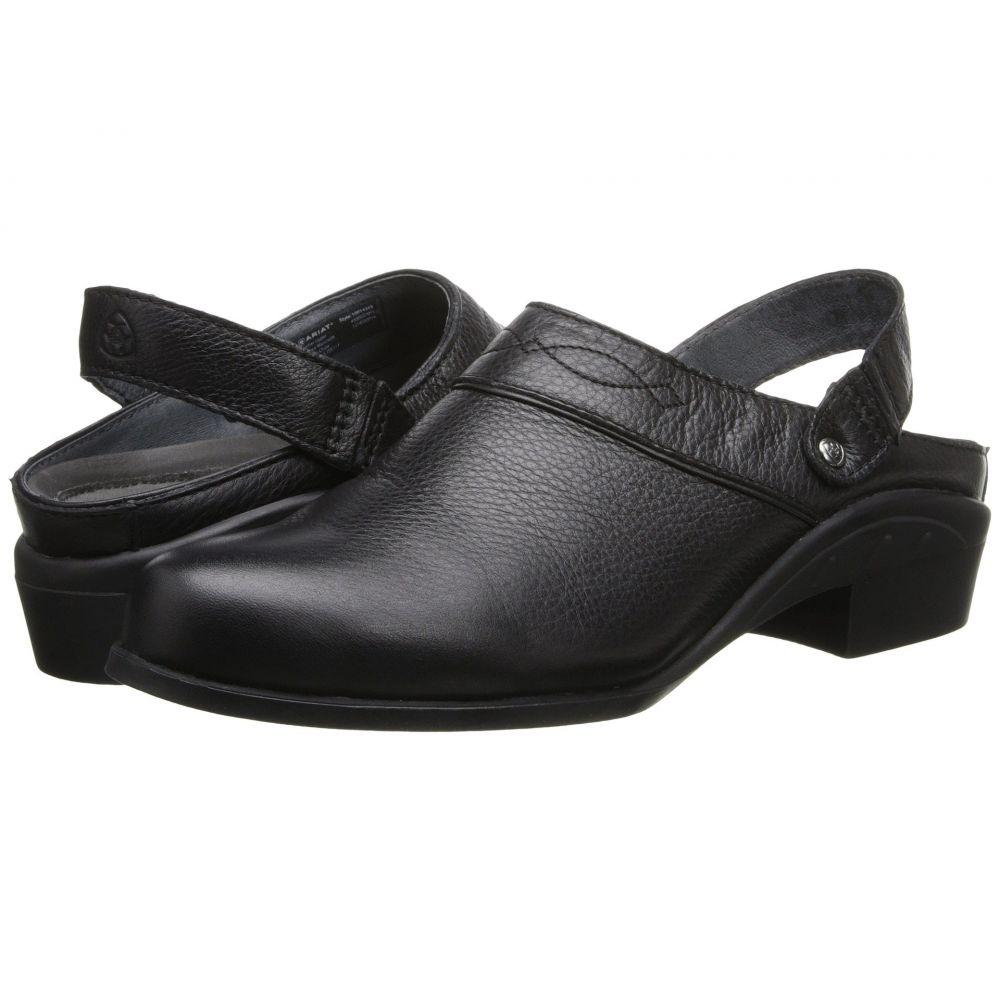 アリアト Ariat レディース サンダル・ミュール シューズ・靴【Sport Mule】Black Deertan
