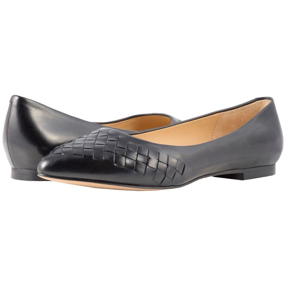 トロッターズ Trotters レディース スリッポン・フラット シューズ・靴【Estee Woven】Black Woven Leather
