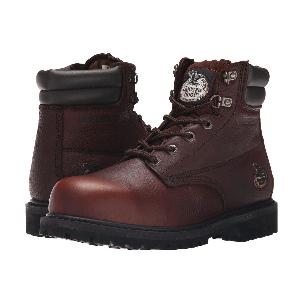 ジョージアブーツ Georgia Boot メンズ ブーツ シューズ・靴 Oiler 6' Steel Toe Waterproof Dark Brown6vfbY7gy