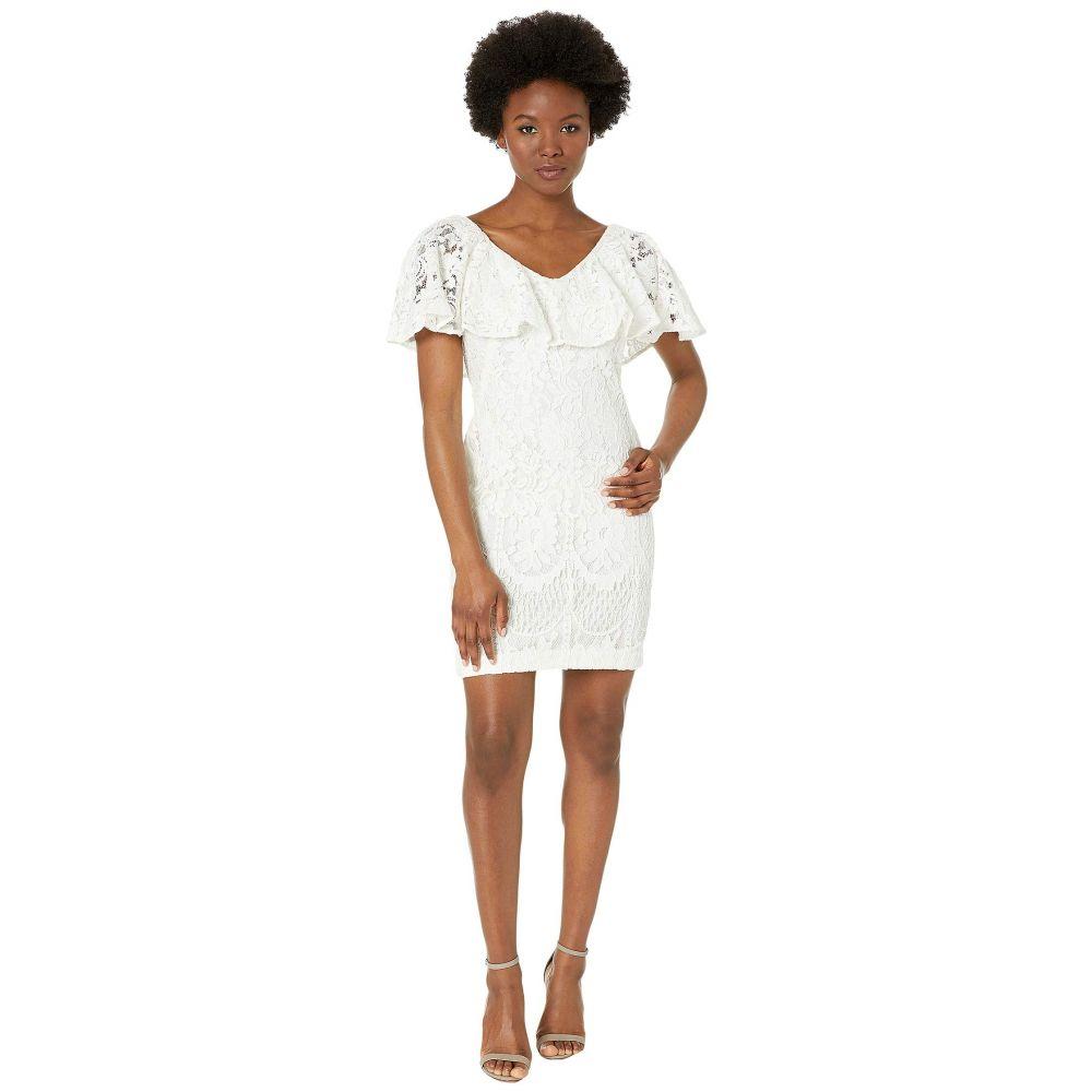 ラルフ ローレン LAUREN Ralph Lauren レディース ワンピース ノースリーブ ワンピース・ドレス【Petite 177A Lore Floral Lace Tamalira Sleeveless Day Dress】Lauren White